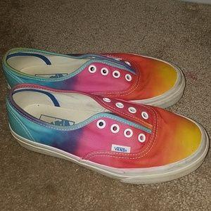 Rainbow Ombre Vans